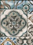 Reclaimed Industrial Chic Wallpaper Marrakesh Tiles 2701-22315 By A Street Prints For Brewster Fine Decor